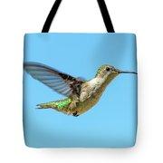 Blue Sky Hummingbird Tote Bag