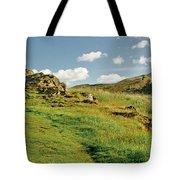 Blue Sky Of Holyrood Walk. Tote Bag