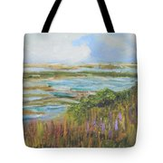 Blue Sky Over Fort Hill Tote Bag