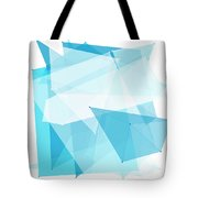 Blue Sky Polygon Pattern Tote Bag