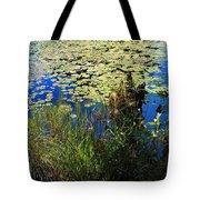 Blue Sky Pond Tote Bag
