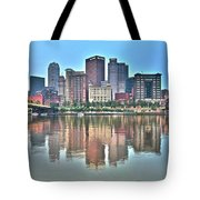 Blue Sky Reflecting Water Tote Bag