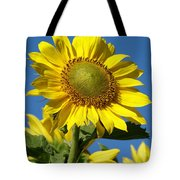 Blue Sky Sunflower Day Tote Bag