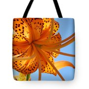Blue Sky Sunshine Tiger Lily Flowers Giclee Prints Baslee Troutman Tote Bag