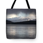 Blue Sky Through Dark Clouds Tote Bag