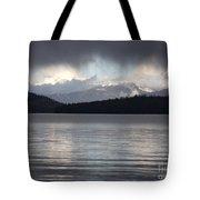 Blue Sky Through Dark Clouds Tote Bag