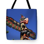 Blue Sky Totem Tote Bag