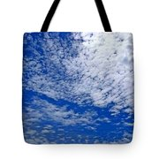 Blue Sky With Clouds Tote Bag