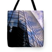 Blue Skyscrapper With A Blue Sky In New Orleans Louisiana Tote Bag