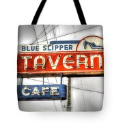Blue Slipper Tote Bag
