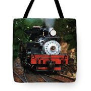 Blue Smoke Blowing Tote Bag