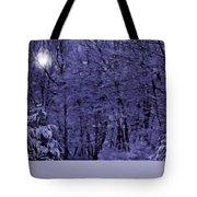 Blue Snow Tote Bag