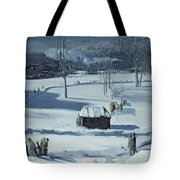 Blue Snow, The Battery Tote Bag