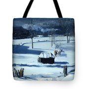 Blue Snow. The Battery Tote Bag