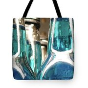Blue Soda Abstract Tote Bag