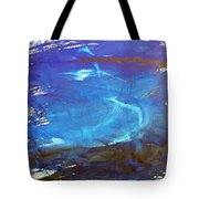 Blue Space Water Tote Bag