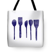Blue Spoons- Art By Linda Woods Tote Bag