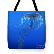 Blue Spotted Jellyfish Tote Bag