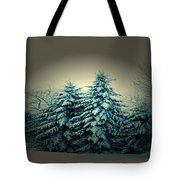 Blue Spruce-maine Evergreens Tote Bag