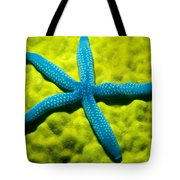 Blue Starfish On Poritirs Tote Bag