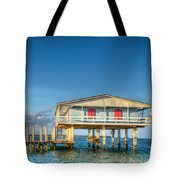 Blue Stiltsville House Tote Bag