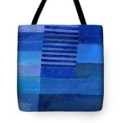 Blue Stripes 7 Tote Bag