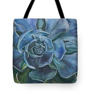 Blue Succulent Tote Bag