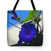 Blue Summer Flower Tote Bag