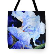 Blue Summer Iris Tote Bag