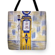 Blue Sunoco Gas Pump Tote Bag