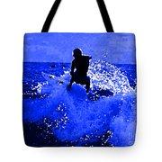 Blue Surf Tote Bag