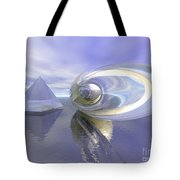 Blue Surreal Tote Bag