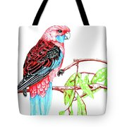 Blue Tail Parrot - Green Day Tote Bag