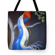 Blue Tail Fantasy Tote Bag
