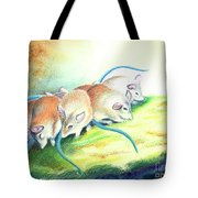 Blue Tailed Society Tote Bag