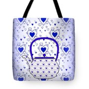 Blue Teapot - Kitchen Tote Bag