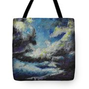 Blue Tempest Tote Bag