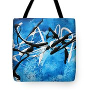Blue Texture By Madart Tote Bag
