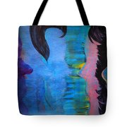 Blue Thoughts Tote Bag