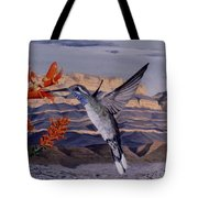 Blue Throated Hummingbird Tote Bag