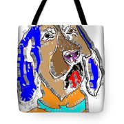 Blue Tic Hound Colorful Tote Bag
