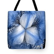 Blue Tiger Iris Tote Bag