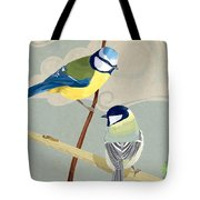 Blue Tit And Great Tit Tote Bag