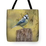 Blue Tit Bird II Tote Bag