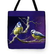Blue Titmouse Tote Bag