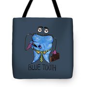 Blue Tooth Tote Bag
