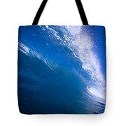 Blue Translucent Wave Tote Bag