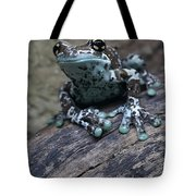 Blue Tree Frog Tote Bag