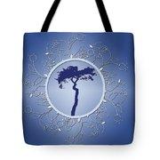 Blue Tree Of Life Tote Bag