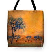Blue Trees And Dreams Tote Bag